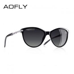 AOFLY projektowanie marki kociego oka spolaryzowane okulary przeciwsłoneczne damskie polaryzacyjne okulary przeciwsłoneczne kobi