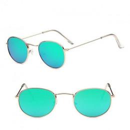 2019 Retro okrągłe okulary przeciwsłoneczne damskie marka projektant okulary przeciwsłoneczne dla kobiet metalowe przeciwsłonecz