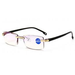 Imwete bez oprawek okulary do czytania okulary kobiety mężczyźni przezroczyste niebieskie światło blokowanie bezramowe okulary k