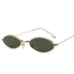 Małe owalne okulary przeciwsłoneczne dla mężczyzn mężczyzna metalowa oprawa retro żółty czerwony vintage małe okrągłe okulary pr