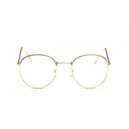 Okrągłe okulary rama kobieta mężczyźni okulary Retro krótkowzroczność optyczne ramki metalowe jasne obiektyw czarny srebrny złot