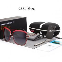 BARCUR Polaryzacyjne damskie okulary przeciwsłoneczne z soczewkami gradientowym Luksusowy model okularów przeciwsłonecznych