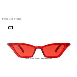 2018 marka projekt nowy europejski amerykański cat eye okulary okulary przeciwsłoneczne damskie OKULARY W STYLU RETRO przezroczy