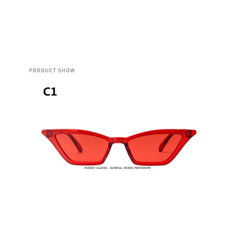 Stylowe okulary przeciwsłoneczne damskie wąskie bez ramkowe
