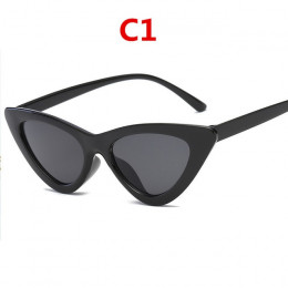 2019 moda okulary przeciwsłoneczne kobieta marka projektant vintage retro trójkątne cat eye okulary óculos De Sol przezroczyste