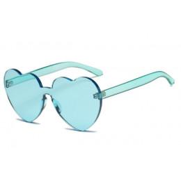 Nowe mody śliczne sexy retro Love Heart okulary przeciwsłoneczne bezramkowe kobiet luksusowa marka projektant okulary przeciwsło
