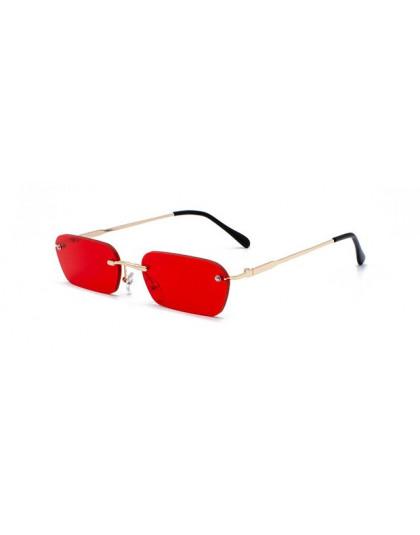 Peekaboo bez oprawek prostokąt okulary przeciwsłoneczne damskie jasny kolor 2019, lato, akcesoria, kwadratowe okulary przeciwsło