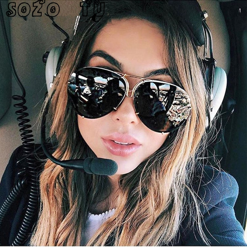 SOZO TU 2018 oversize okulary przeciwsłoneczne kobiety bez