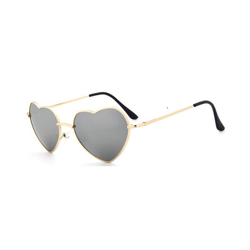 DCM panie okulary przeciwsłoneczne w kształcie serca Metal