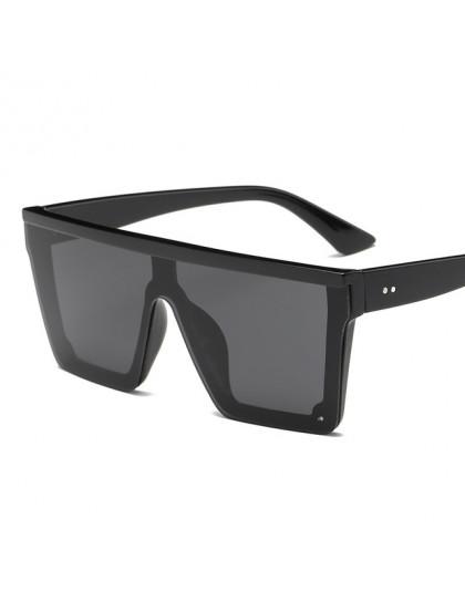 YOOSKE w stylu Vintage ponadgabarytowych okulary przeciwsłoneczne damskie czarne jeden kawałek fajne jazdy okulary mężczyźni mod