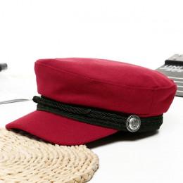 2018 Trend czapki zimowe dla kobiet francuski styl wełny piekarza chłopiec kapelusz kobiece fajne czapka z daszkiem czapka z das