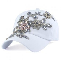 [YARBUU] marka czapka z daszkiem z kwiat na płótnie Snapback czapki dla kobiet kobieta cap kapelusz wysokiej jakości Rhinestone