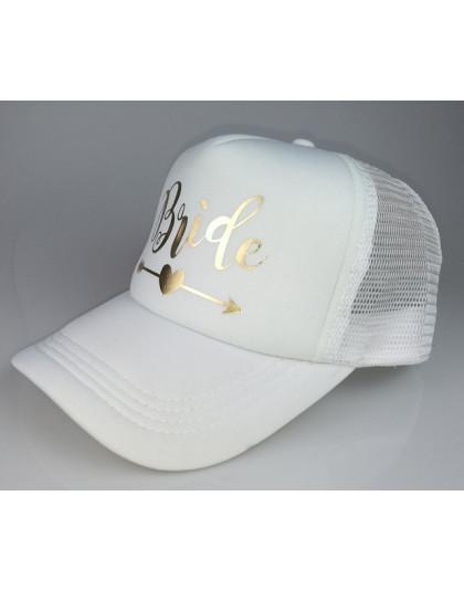 C & Fung panny młodej z plemienia panny młodej wieczór panieński Snapback Trucker kapelusz czapka zespół panny młodej złote lite