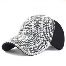 [YARBUU] nowa marka czapki z daszkiem dla kobiet rhinestone kapelusz pani dziewczyna cap czarny kolor czapka typu snapback czapk