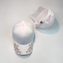 Czapki kobiety haft bawełniana czapka baseballowa Snapback czapki Hip Hop czapki Casquette dziewczyny kwiaty czapka z daszkiem c