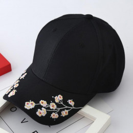 2019 kobiety kapelusze letnie symetryczne kwiatowe hafty wbudowana izolacja czapki z dzianiny Femme czapka z daszkiem regulowany