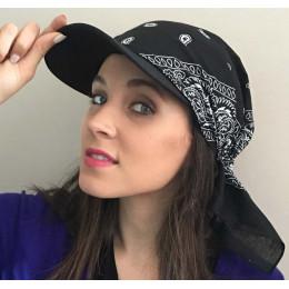 Sleeper 501 2019 nowa moda kobiety indie muzułmańskie Retro kwiatowy bawełniany ręcznik Cap rondo Turban z daszkiem czapka z da