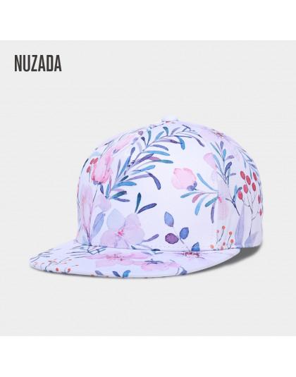 Marka NUZADA 3D drukowanie czapki kapelusze wiosna lato małe świeże kwiaty kobiety czapka z daszkiem kości bawełna regulowana be