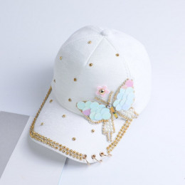 Lato zwykły bawełna kobiety metalowe czapka z daszkiem Snapback Hip Hop czapki 2018 na co dzień motyl cekiny czapki z daszkiem c
