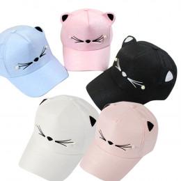 Sleeper 501 2019 nowy moda wiosna moda fala perła dzikie słodkie uczeń kot uszy daszek czapka z daszkiem dziewczyny na co dzień