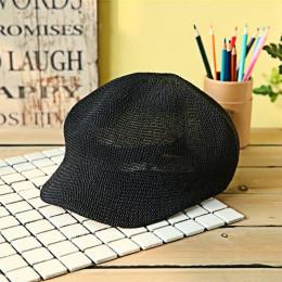 Damskie słomy dzianiny kapelusz oddychająca czapka przeciwsłoneczna kapelusz na lato dla kobiet 2019 moda czapki z dzianiny dasz