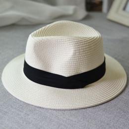 Jiangixhuitian 2019 lato unisex niedz kapelusz na co dzień, w którym znajduje się kapelusz słomkowy Panama kobiet szerokim ronde