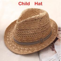 DCEBEY ręcznie splot kapelusz na lato dla kobiet 2019 nowy słodkie Retro kapelusz słońce dla kobiet kapelusze słomkowe dla dziec