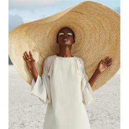 Kobieta moda duży kapelusz słońce na plaży anty-uv ochrona przed słońcem składany słomiany kapelusz pokrywa ponadgabarytowych sk