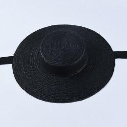 USPOP 2019 najnowszy kobiet słońce kapelusz francuski styl słomkowy kapelusz z szerokim rondem na co dzień naturalny pszenicy sł