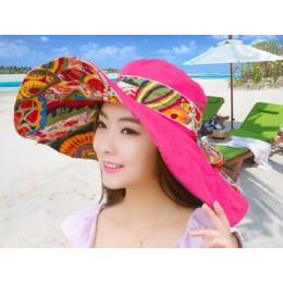[SUOGRY] 2017 moda kompozycja z kwiatów składany rondem kapelusz słońce kapelusze letnie dla kobiet ochrona UV darmowa wysyłka