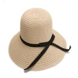 Moda piękny czapka dla dorosłych łuk słomy kapelusz słońce, plaża, słońce, caHat dziewczyna kobiety caHat kapelusze przeciwsłone