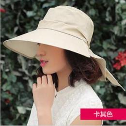 BINGYUANHAOXUAN 2018 nowy marka kobiety kapelusz słońce kapelusz na lato składane ochrony przeciwsłonecznej anty-uv duże letnie