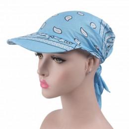 JRNNORV Dropshipping wiosna Hot sprzedaż Sunhat kryształ wysokiej jakości moda damska drukowane szalik na głowę czapka z daszkie