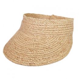 2019 proste panie uv roll up koreański czapka z daszkiem kobiety osłona przeciwsłoneczna słomkowy rafia sun daszki ochronne słom