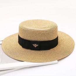 HSS 2017 nowy lato kobiety kapelusze Bling złoty moda słomkowy kapelusz anglia morze plaża podróż czapki szybka wysyłka