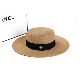 2019 kapelusze przeciwsłoneczne dla kobiet kapelusz na lato kobiet słomy lato moda na zewnątrz kapelusz słońce na plaży Flat Top