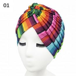 Modne kolorowe turbany damskie na głowę ochronne onkologiczne oryginalne wzory stylowe nakrycie głowy