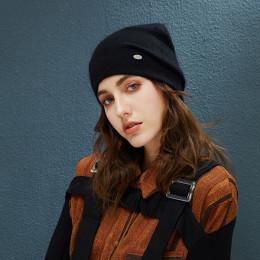 Kobieta czapki królik włosy czapki zimowe dla kobiet na co dzień jesień dziergana czapka dziewczyny 2019 nowe mody wysokiej jako