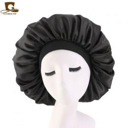 Bardzo duże drukuj satynowe jedwabne maski czapka z daszkiem z najwyższej jakości elastyczna opaska