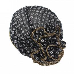 Kobiety kapelusz z kwiatem czapka szalik Turban szef opaska chemioterapii raka piersi Retro 2017 Hot czapki Touca Inverno 12