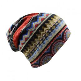 Miaoxi nowy kobiety czapki Skullies pani mody wysokiej jakości Hip Hop Floral zima czapka szalik dla dorosłych poliester jesienn