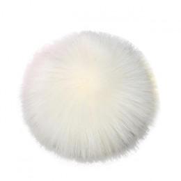 Snowshine YLWX DIY Faux futra lisa puszyste piłka pomponowa do robienia na drutach kapelusz kapelusze