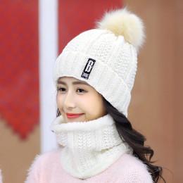 Marka zima dzianiny czapki kobiety grube ciepłe Beanie Skullies kapelusz kobiet dzianiny sweter list czapka Beanie czapki jazda