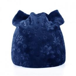 TQMSMY kwiat zimowe czapki kobiety szalik czapka z dzianiny czapki maska Lady ciepłe Baggy czapki zimowe dla kobiet Skullies cza