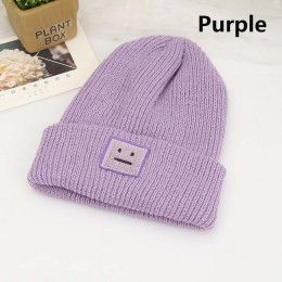 Koreański nowy kapelusz jesień zima moda ciepłe czapka robiona na drutach brytyjski styl Smiley głowy dorywczo czapka z dzianiny