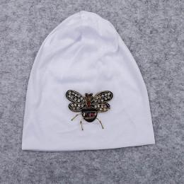 GZHilovingL 2019 nowych moda kobiety Bee Slouchy czapki na co dzień luźne Hip hop damskie cienkie bawełniane maski kapelusze Cap