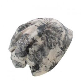 Miaoxi sprzedaż nowa moda kobiety dzianiny ciepła czapka szalik dwa używane kobieta flory czapka Beanie Skullies dla dziewczyny
