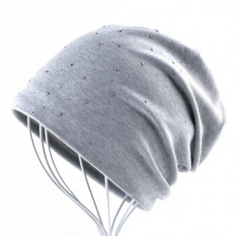 Moda Rhinestone czapki kobiety wiosna jesień jednolity kolor Skullies Beanie czapka damska bawełna miękkie maski kapelusze damsk