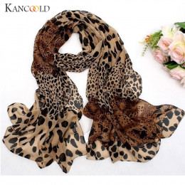 KANCOOLD szalik kobiet szyfonowa Leopard Print mały jedwabny szalik włosy krawat zespół szalik wielofunkcyjny szalik kobiety 201