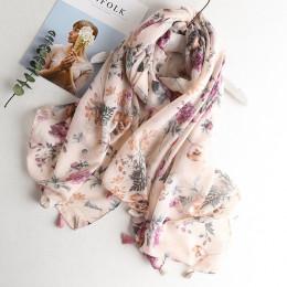 Delikatny szalik damski młodzieżowy wiosenny letni cienki jedwabny zwiewny długi modny oryginalny